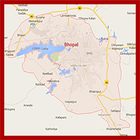Bhopal City Map Map Of Bhopal Bhopal Road Map Bhopal India Map
